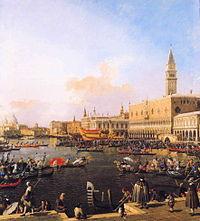 Canaletto - Venice, Bacino di San Marco on Ascension Day.JPG