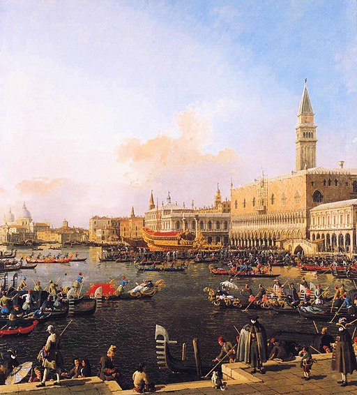 Canaletto - Venice, Bacino di San Marco on Ascension Day
