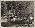 Cannon Mine trestle across Green River and mount of mine, Franklin, ca 1915 (MOHAI 4233).jpg