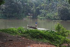 Manimala River - Image: Canoe in Manimalayar