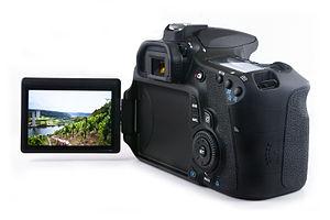 Canon EOS 60D - Image: Canon 60D Flip Screen