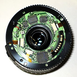 Canon EF lens mount - Electronics of an EF-S lens