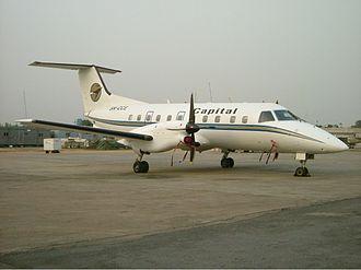 Capital Airlines (Nigeria) - A Capital Airlines Embraer EMB 120 Brasilia at Murtala Muhammed International Airport in 2004.