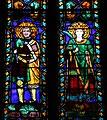 Cappella pulci-berardi, vetrata su disegno di bernardo daddi 04.jpg