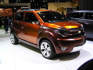 Chevrolet Trax (concept car) Chevrolet mini SUV concept car shown at New York Auto Show 2007