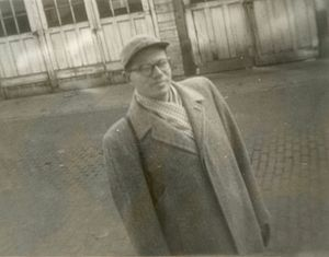Carl W. Condit - In Evanston, Illinois 1952; photo by S.C. Condit