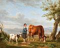 Carl Kuntz Viehhirtin mit Kuh und Ziege.jpg