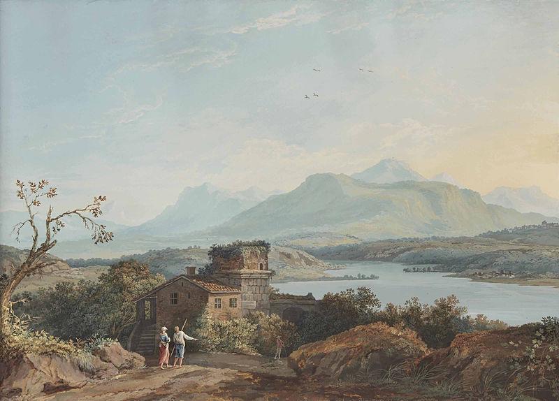 File:Carl Ludwig Hackert - A view of Poggio Mirteto (1777).jpg