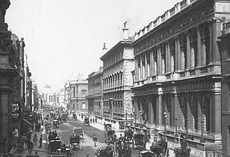 "Club (organization) - Historical image of Pall Mall with the Carlton Club, describing itself as the ""oldest, and most important of all Conservative clubs"""