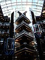 Carnival Sensation Grand Atrium elevators.JPG