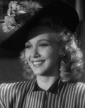 Cropped screenshot of Carole Landis from the f...