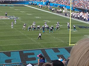 2012 Carolina Panthers season - The Carolina Panthers on offense against the Denver Broncos in week 10 of the season