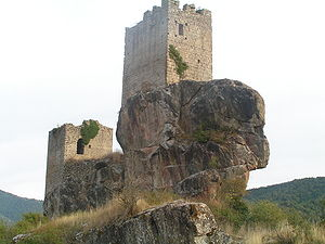 Sancho Garcés, Lord of Uncastillo - Sibirana Castle in Uncastillo, one of the tenencias of Sancho Garcés