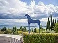 Cavallo blu nel Vittoriale degli Italiani.jpg