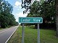 Cedar View highway sign.jpg