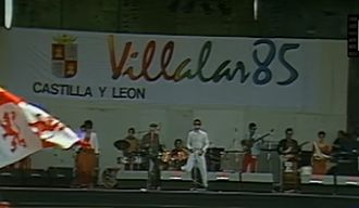 Castile and León - Celebration of the Villalar Day in 1985.