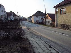 Center of Zašovice, Třebíč District.JPG