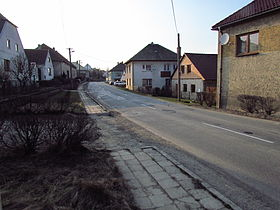 Center of Zašovice, Třebíč District.JPG