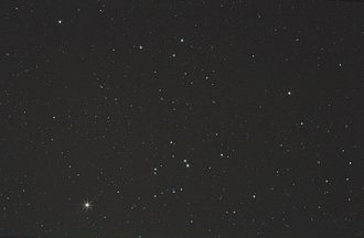 Taurus (constellation) - Central area of constellation Taurus, showing Aldebaran at the lower left.