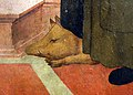 Cerchia di mariotto albertinelli, madonna ol bambino tra i ss. macario e antonio abate, da s.m. a marcoiano, 03 cinghiale.jpg