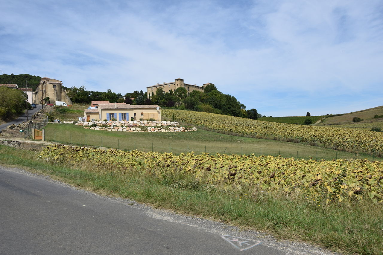 Le château et le village.