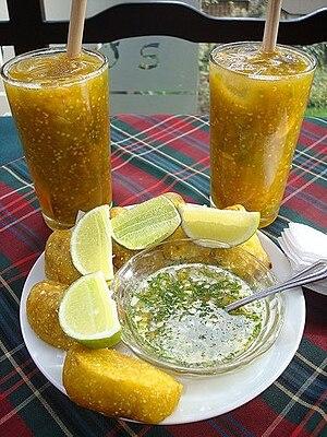 Lulada - Luladas serves with empanadas.