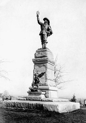 Nepean Point - Image: Champlain statue with archer