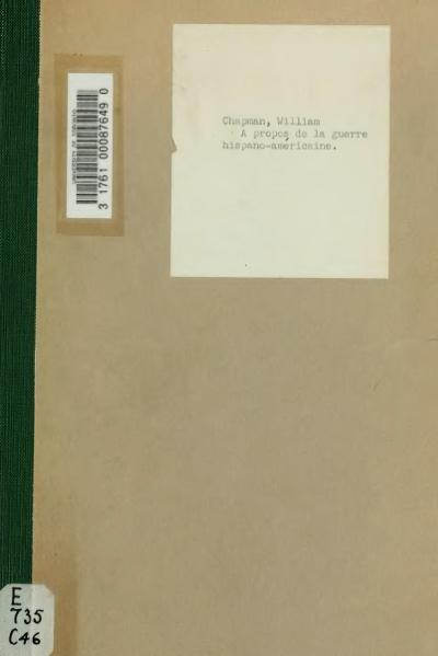 File:Chapman - À propos de la guerre hispano-américaine, 1898.djvu