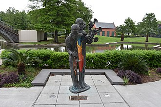 Buddy Bolden - A statue commemorating Bolden in Louis Armstrong Park, New Orleans