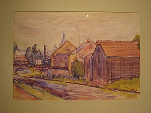"Demuth Museum - ""The Canal, New Hope, Pennsylvania"" on display at the museum"