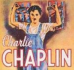 Chaplin pada poster film Modern Times
