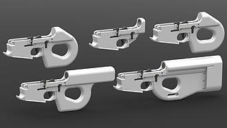 Charon (gun) - An image of the DEFCAD Charon AR-15 family.