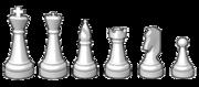 Zleva: Král, dáma, střelec, věž, jezdec, pěšec