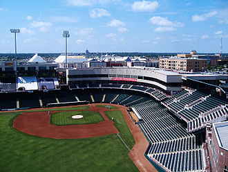 Triple-A National Championship Game - AT&T Bricktown Ballpark, site of the first five Triple-A National Championship Games (2006–2010)