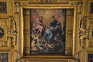 0257e450a176a Marienkrönung an der Decke von Santa Maria la Nova (Neapel)