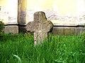 Chlumec (UL), kostel svatého Havla, smírčí kříž ze Žandova.jpg
