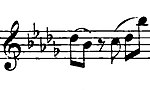 Part of the main theme of the first movement of Chopin's Piano Sonata No. 2