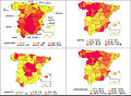 Chowell2014 1918 influenza excess mortality in Spain map.jpg