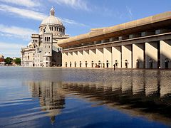 Mother Church, Colonnade building, reflecting pool