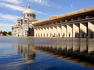 Christian Science Center - Image: Christian Science Church and Reflection, Boston, Massachusetts