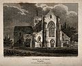 Church of St. Cross, Winchester, Hampshire. Engraving by W. Wellcome V0014609.jpg