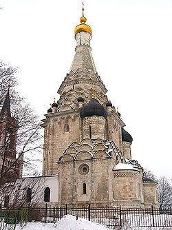 Ο ναός της Μεταμόρφωσης του Σωτήρος στα περίχωρα της Μόσχας, ιδιοκτησίας του Γκοντουνόβ.