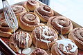 Cinnamon rolls drizzled with glaze (3), April 2009.jpg