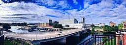 City of South Bend, downtown skyline