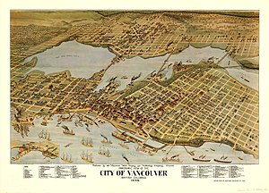 City of Vancouver Panoramic Map
