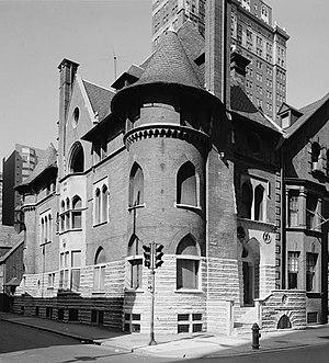 Clarence Bloomfield Moore - Clarence B. Moore House, 1321 Locust Street, Philadelphia, Pennsylvania (1890), Wilson Eyre, architect. Source: HABS