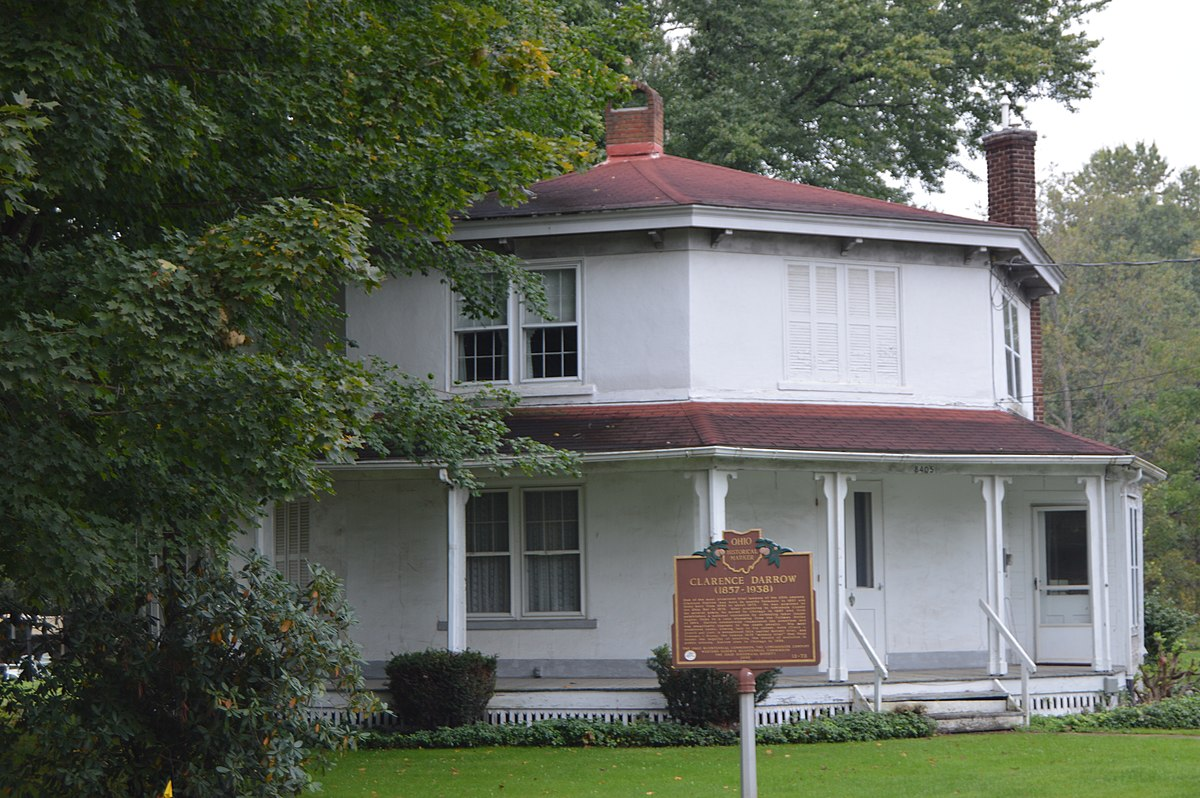 Clarence darrow octagon house wikipedia for Octagon homes