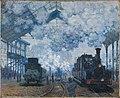 Claude Monet - The Gare Saint-Lazare, Arrival of a Train - 1951.53 - Fogg Museum.jpg