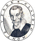Claudio Monteverdi, engraved portrait from 'Fiori poetici' 1644 - Beinecke Rare Book Library (adjusted)