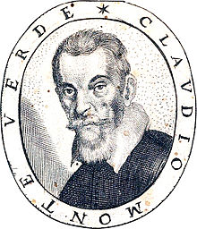 Portrait of Claudio Monteverdi, from the title page of Fiori poetici, a 1644 book of commemorative poems for his funeral (Source: Wikimedia)